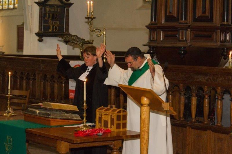 2017-09-24 Vredesdienst Grote Kerk Mirjam en Thom (16) Peter Vreeswijk